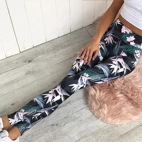 Haidy High Waist Floral Print Gym Leggings