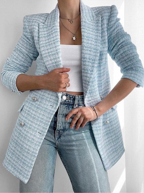 Taylia Tweed Blue Blazer
