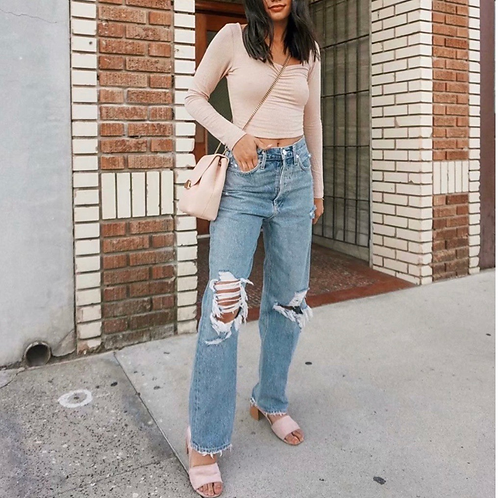 Arina Ripped Denim Pants