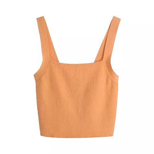 Orange Basic Tank Top