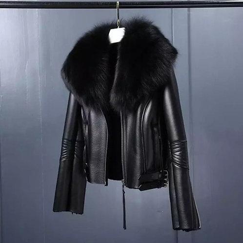 Sophia Leather Fur Jacket