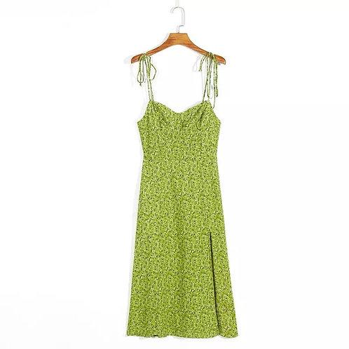 Spaghetti Strap Summer Midi Dress