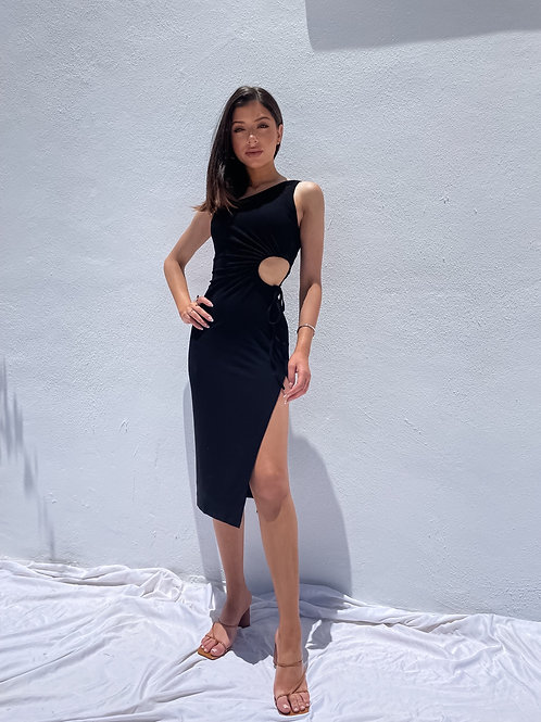 Amani Cut Out Dress - Black