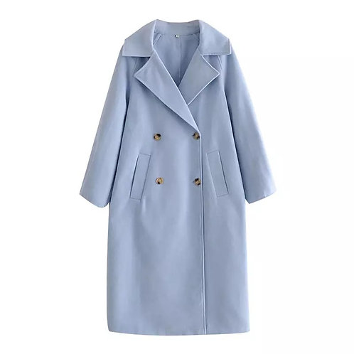Sky Blue Over Sized Coat