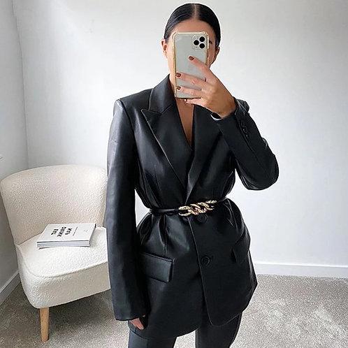 Serina Leather Blazer