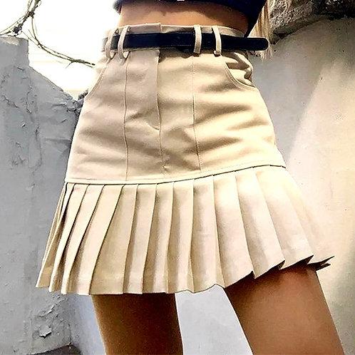 Jonny Leather Mini Skirt