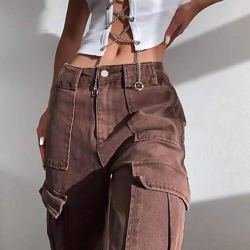 Brown Maebel Loose Trouser