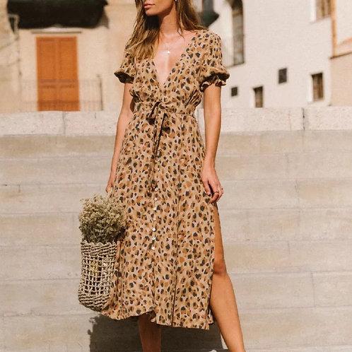 Stella Leopard Dress