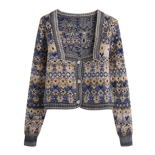 Girna Knitted Cropped Cardigan