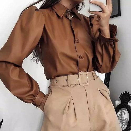 Gia Leather Shirt