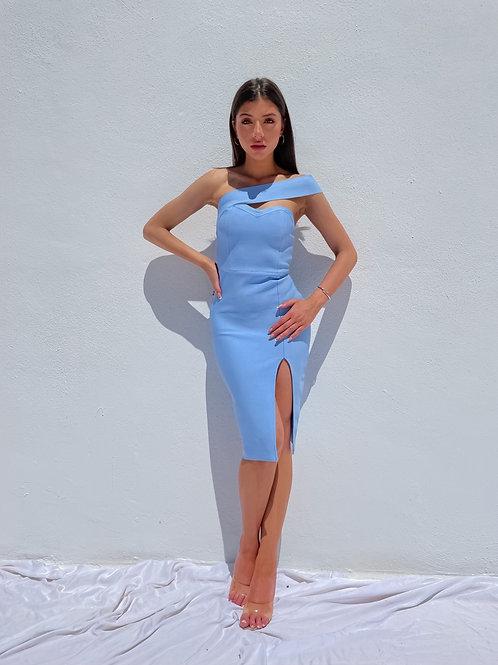 Eyona Sky Blue Dress