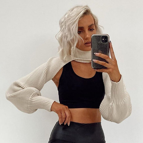 Chain Cropped Sweater
