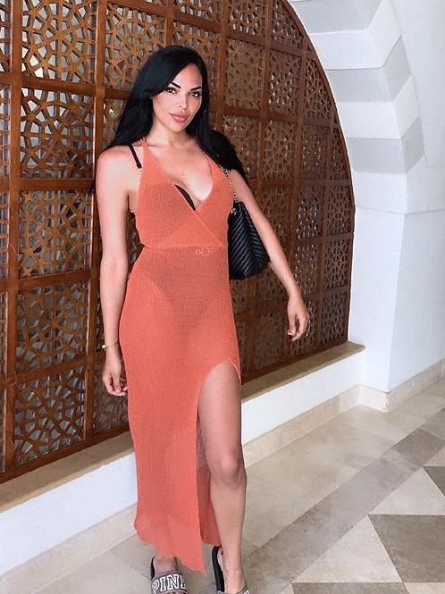Mykonos Beach Maxi Dress - Orange