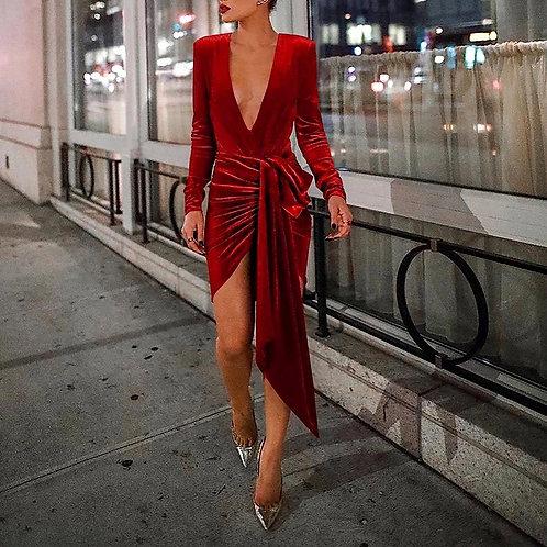 Nowel Velvet bodycon Dress