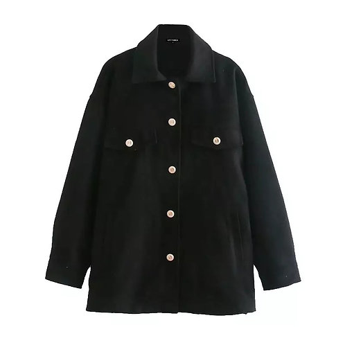 Selina  Gold Buttons Jacket