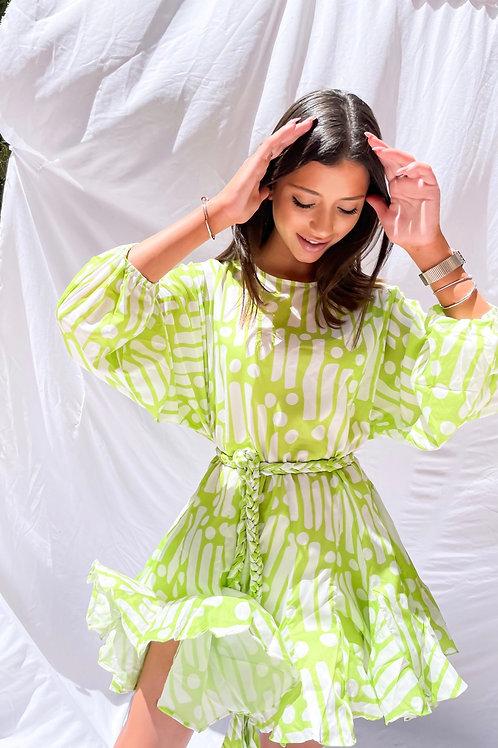 Nova Flare Dress - Green