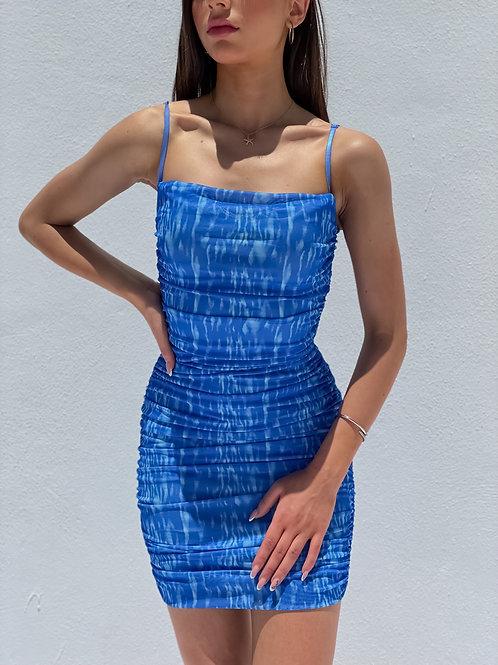 Havana Blue Bodycon Dress
