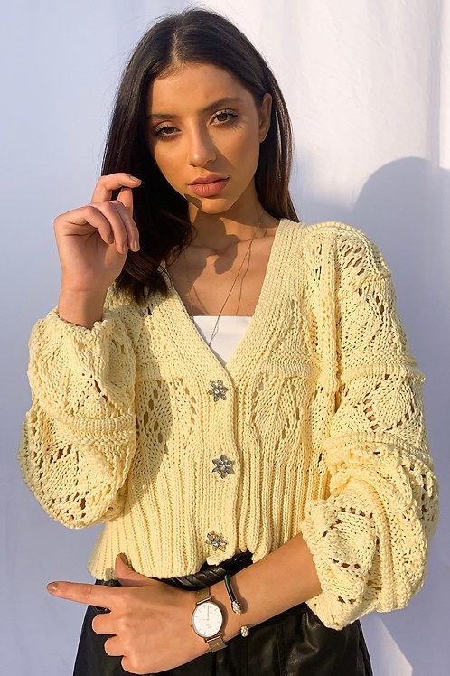 Henna Cropped Cardigan