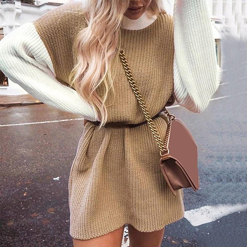 Candy Oversize Knitted sweater Dress