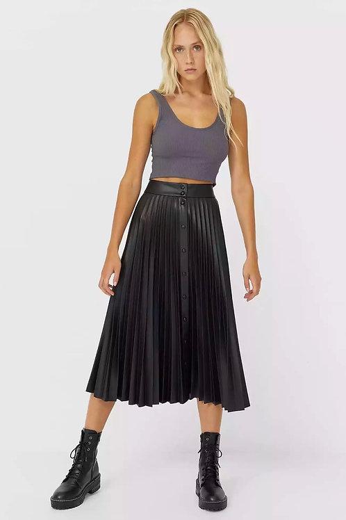 Glada Pleated Midi Skirt