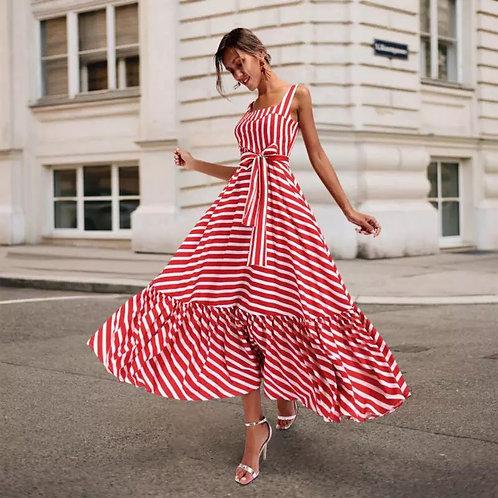 Cloie Stripe Maxi Dress