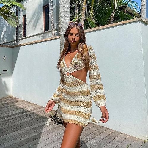 Sand Cut Out Beach Dress
