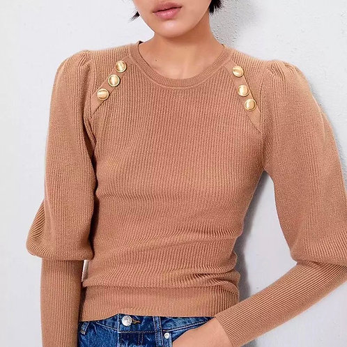 Holly Puff Sleeves Sweater