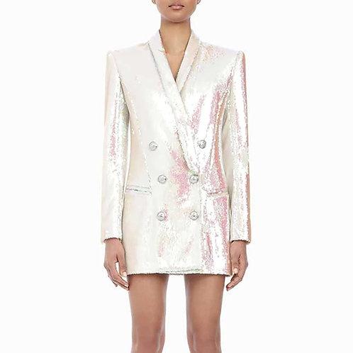 Verrna Sequins Suit Blazer Dress