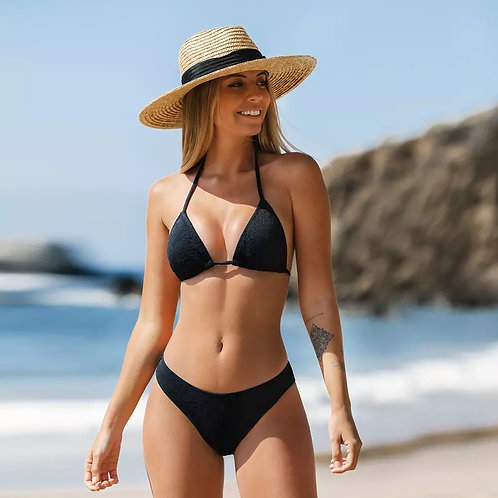 Rettraw Black Basic Bikini