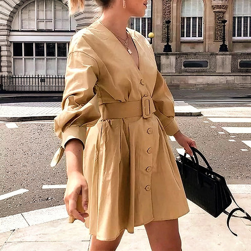 Aria Elegant Trench Fall Dress