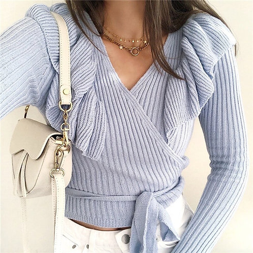 Kinda Ruffles Knit Sweater
