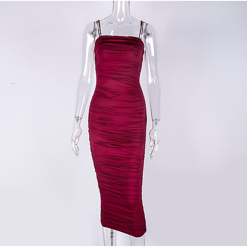 Taylor Bodycon Dress - Maroon