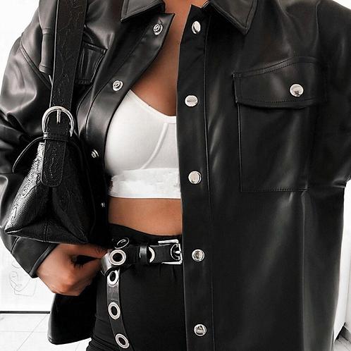 Monla Leather Shirt