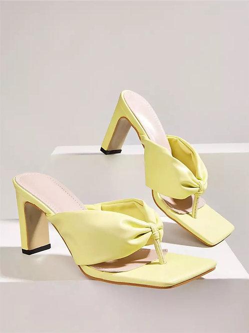 Kendal Pastel Heels - Yellow