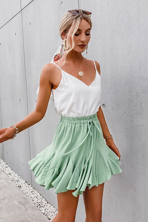Zima Mint Green Flare Skirt