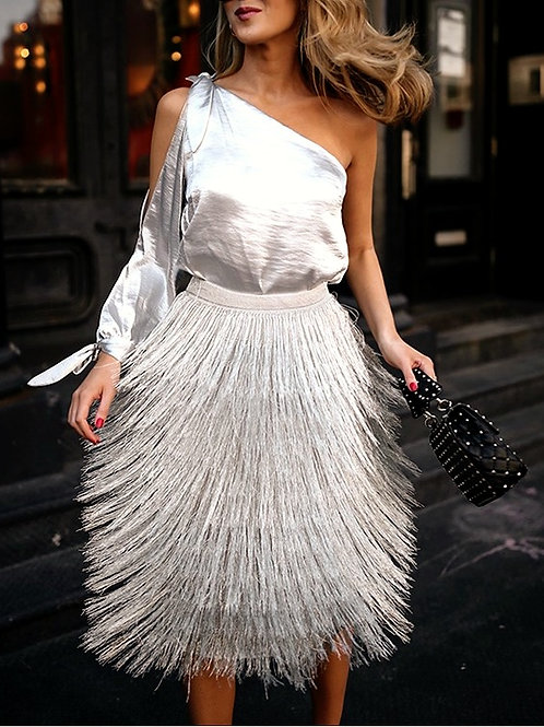 Nahia Tassels Elegant Skirt