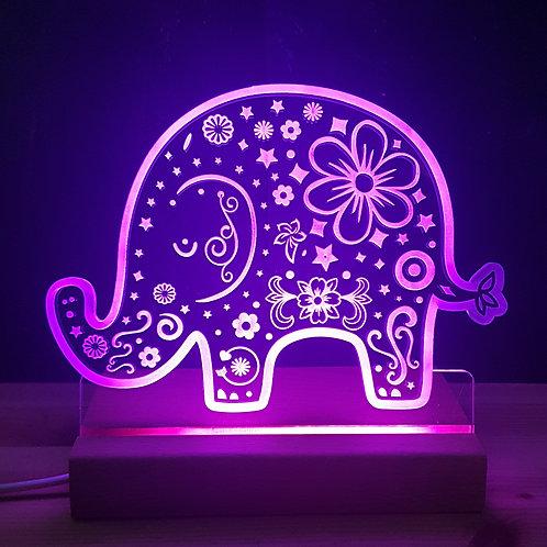 ELEPHANT MULTI COLOURED LED LIGHT