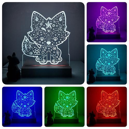 FREDDIE FOX MULTI COLOURED LED LIGHT