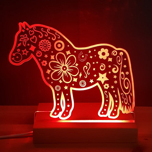 SHETLAND PONY MULTI COLOURED LED LIGHT