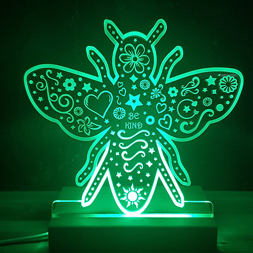 BEE KIND MULTI COLOURED LED LIGHT