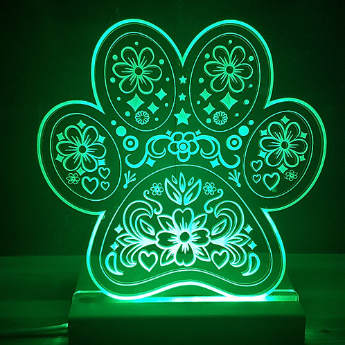 PAW MULTI COLOURED LED LIGHT