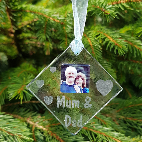 Personalised Glass Christmas Decoration