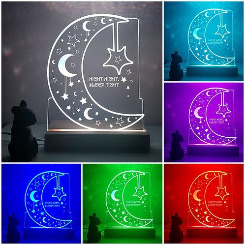 MOON & STARS MULTI COLOURED LED LIGHT