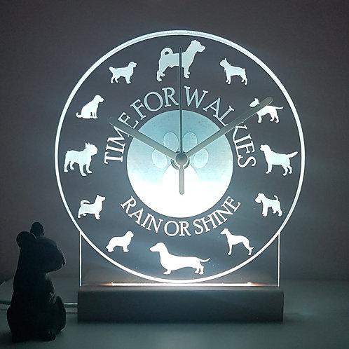 DOG BREED CLOCK LED LIGHT