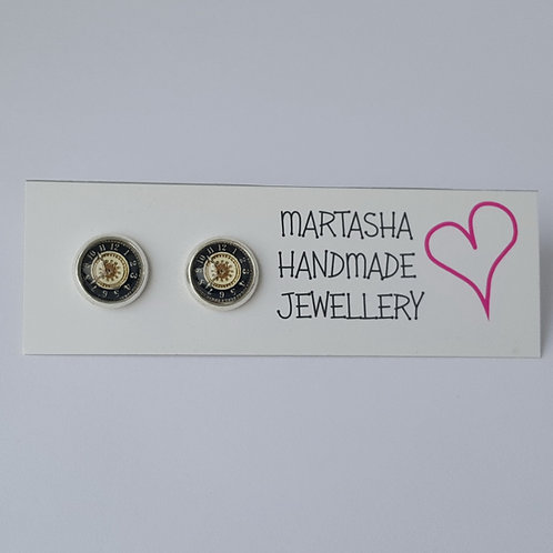 Clock Stud Earrings