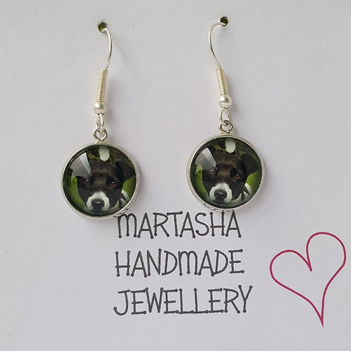 Personalised Photo Drop Earrings