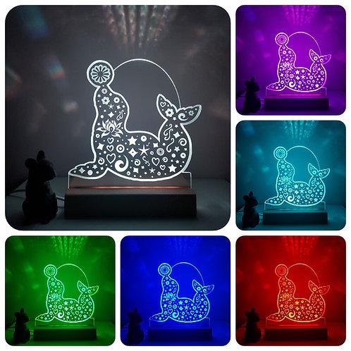 CIRCUS SEAL LION MULTI COLOURED LED LIGHT