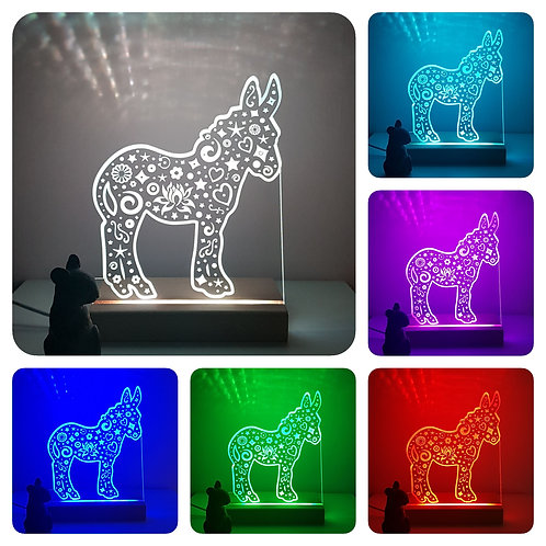 DONKEY MULTI COLOURED LED LIGHT