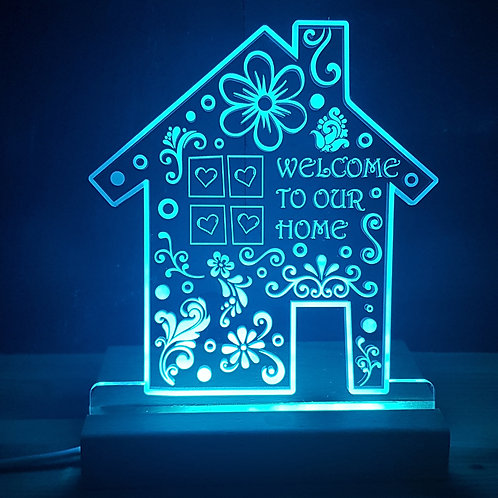 NEW HOME MULTI COLOURED LED LIGHT