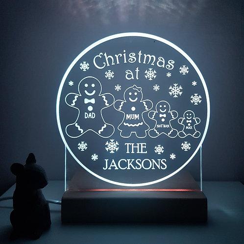 Christmas Snow Globe Night Light